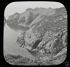 VICTORIAN Glass Magic Lantern Slide GOULIOT CAVES SARK C1890 CHANNEL ISLANDS