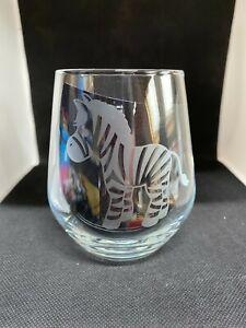 Stemless/Stemmed Wine Glass - Zebra - Personalized