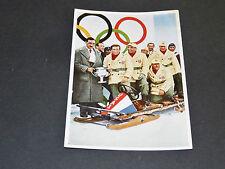 LOS ANGELES 1932 J.O. OLYMPIC GAMES OLYMPIA BOBSLEIGH USA TEAM & ZAHN