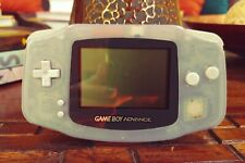Nintendo Gameboy Advance - Glacier Clear - Tested And Working