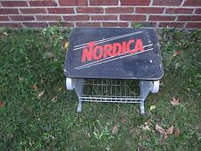 Nordica Seat Stool w Storage Metal Commercial