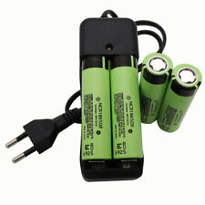 4X 18650 3400mAh 3.7V Li-ion Battery Rechargeable NCR18650B High Drain&Charger