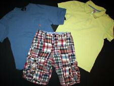 BOYS LOT OF 3 SHORTS & SHIRTS Polo Ralph Lauren Gymboree Gap Kids Sz 10 slim 12