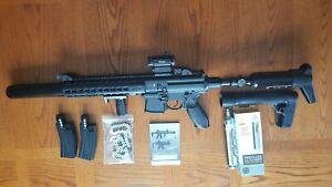 sig sauer mcx .177 cal air rifle converted to PCP