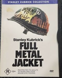 Full Metal Jacket DVD (PAL,  1999) with Snap Case - FREE POST