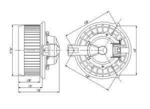 HVAC Blower Motor fits 2005-2010 Honda Odyssey Ridgeline  TYC
