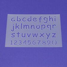 Schablone Wandschablone Buchstaben Satz a-z Klein Zahlen - ME33