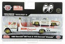 """CHASE 1968 CHEVROLET C60 TRUCK & 1978 SILVERADO """"MOONEYES"""" 1/64 M2 39200-MJS03"""