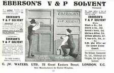 1901 Ebersons Solvent Cw Waters Great Eastern Street Ad