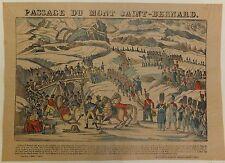 """Napoléon Ier Imagerie d'Epinal """"Passage du mont Saint-Bernard"""" Vers 1860"""