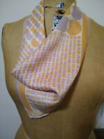 Vintage 1970s Vera Neumann scarf lilac coral geometric psychedelic print