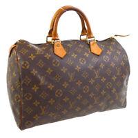 LOUIS VUITTON SPEEDY 35 HAND BAG PURSE MONOGRAM CANVAS SP0938 M41524 A54657