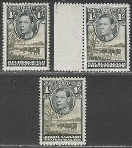 Bechuanaland Protectorate 1938-52 KGVI 1sh Shades Mint SG125-125a