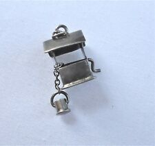 Vintage Sterling Wishing Well 1940s moveable handle