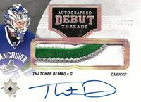 2016-17-ULTIMATE COLLECTION - THATCHER DEMKO  R.C. AUTO PATCH  #/99  VANCOUVER