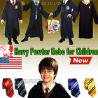 Harry Potter Gryffindor/Slytherin/Hufflepuff/Ravenclaw Robe Cloak Cape For Child
