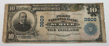 X $10 Ten Dollar Sumter South Carolina 1907 Large National Currency Bank Note