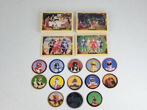 1994 McDonald's Power Rangers Pogs + Saban Series 2 Trading Cards Set