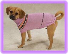 XSM Dog Sweater Pink Argyle Chihuahua Yorkie Poodle Maltese Coats Pet Clothing