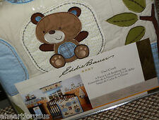 CRIB BEDDING SET NEW EDDIE BAUER OWL CREEK OUTDOOR TREES BEAR RACOON LEAVES BOY