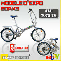 VELO PLIANT BLANC MARINE MODELE 20PM3  (modèle d'expo) - GARANTIE 5 ANS