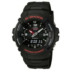 Casio G-Shock 200 Meter WR Black Resin Watch,  Analog/Digital,  Alarm, G100-1BV