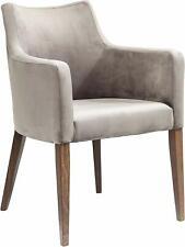 KARE Design Armlehnstuhl Mode Velvet Grey, Stuhl mit Samt Bezug, Füße Buche