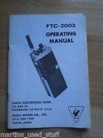 Yaesu FTC-2003 Manual