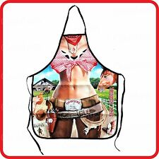 APRON-ATTITUDE FUNNY-SEXY COW GIRL LADY SHERIFF WANTED-COOKING-COSTUME-PARTY-BBQ