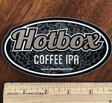 HOTBOX COFFEE IPA OSKAR BLUES BREWING BREWERY BEER STICKER Colorado Oscar Dales