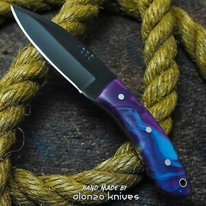 ALONZO KNIVES USA CUSTOM HANDMADE HUNTING SKINNING 1095 KNIFE CORELON 23050