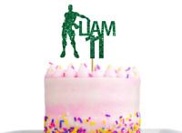 Personalised fortnite floss Birthday Cake Topper Decoration any name and age
