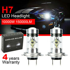 2x H7 Car LED Headlight COB Kits Fog light 6000K CREE 10000W 150000LM White