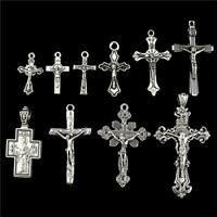 22397 10pcs Antique Cross Pendant Vintage Faith Charm Diy Jewelry Marking