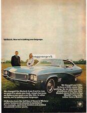 1968 Buick Skylark Blue 2-door Coupe 1967 Vtg Print Ad
