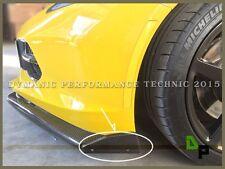 Carbon Fiber Winglets(2pcs) For the Stage 2 Front Lip of 14-17 Chevy Corvette C7
