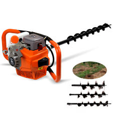 Gas Powerd Post Hole Digger 71cc 2 Stroke Fence Post Hole 3 Bits 468 Usa