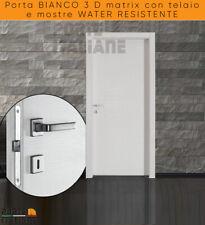 Porta  BIANCO 3 D matrix con telaio e mostre WATER RESISTENTE