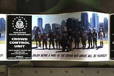 Vancouver Police, Crowd Control Unit, Sticker.