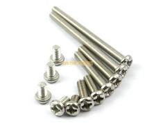 50 Pieces M3 x 50mm 304 Stainless Steel Phillips Pan Head Machine Screw