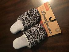 Dearfoams Slippers Womens Size Small (5-6) Animal Print Memory Foam New