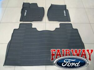 2021 F-150 OEM Ford Molded Floor Mat Set 3-pc CREW CAB without Under Seat Stow