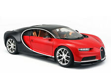 Bburago 1:18 Bugatti Veyron Chiron Diecast Model Roadster Car Vehicle New Red