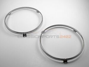 "7"" Headlight Headlamp Ring Retainer Pair for Ford Bronco Thunderbird Maverick"