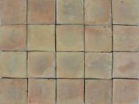 1m² Cotto Bodenplatte natur beige 10x10cm Baustoff historisch Altbau Terrakotta