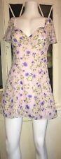 STUNNING Forever 21 Mini dress Size Medium 10/12 Pink Multi Summer Holiday