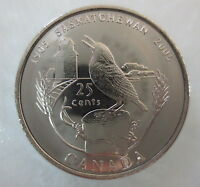 2005 CANADA 25¢ SASKATCHEWAN CENTENNIAL QUARTER UNCIRCULATED FROM MINT ROLL