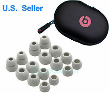 16 Replacement GRAY Ear Buds/Gels for Monster Beats Powerbeats 2.0 3.0 + CASE