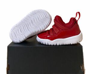 Air Jordan 11 Retro Little Flex TD Gym Red BQ7102 623 Toddler's Size 4c No Lid