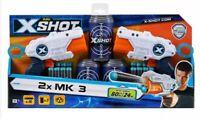 Zuru X Shot Double MK 3 Foam Dart Blaster Gun Launcher Combo Pack 16 Foam Darts